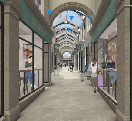 Artist's impression of Arcade submitted with Planning Application - Aug 21