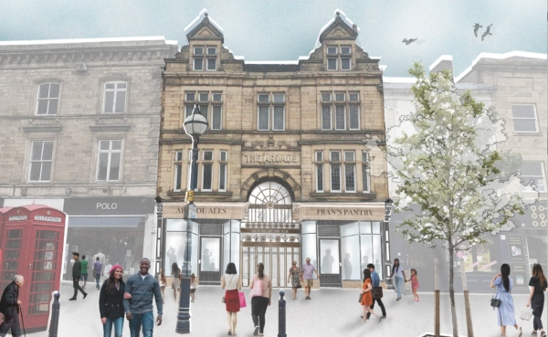 Artist's impression of frontage of Arcade submitted with Planning Application - Aug 21