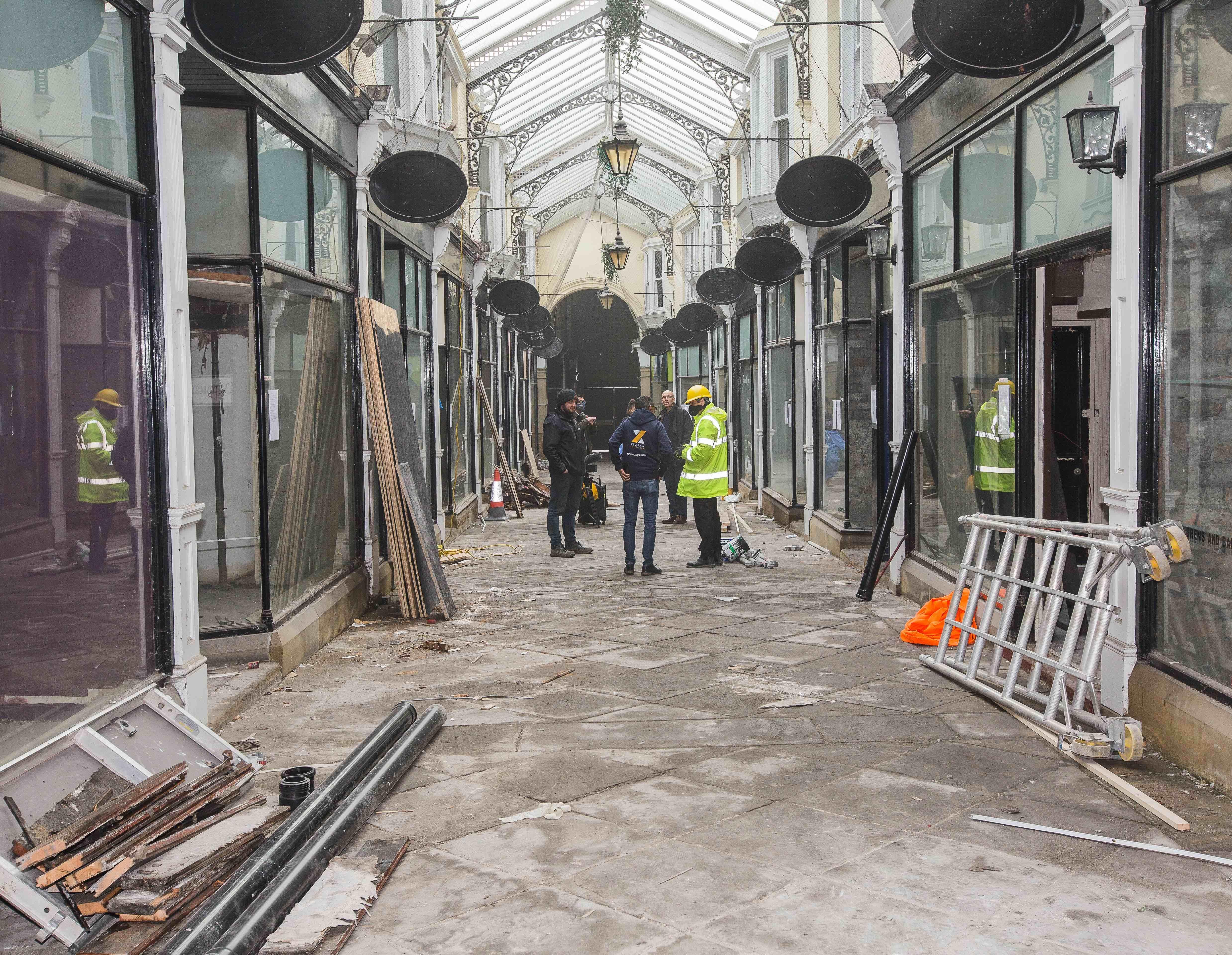 Work starts at Dewsbury Arcade - Feb '21